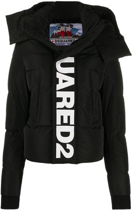 DSQUARED2 Logo Print Hooded Jacket