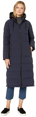 Vince Camuto Maxi Down Coat V29788 (Navy) Women's Clothing
