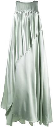 Nina Ricci Asymmetric Draped Dress