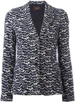 Odeeh knitted fitted jacket - women - Cotton/Polyester/Viscose - 36