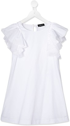 MonnaLisa frill sleeved T-shirt dress