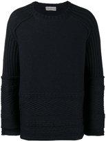 Yohji Yamamoto Texture pattern knitted jumper - men - Wool - 3