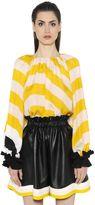 Fendi Striped Silk Georgette Top