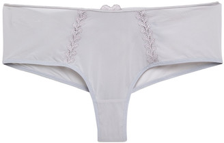 Maison Lejaby Attrape-fleur Cutout Embroidered Jersey Mid-rise Thong