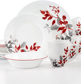 Corelle Kyoto Leaves Round 16-Pc. Set, Service for 4