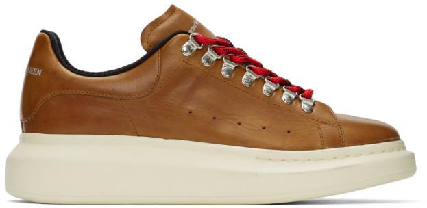 Alexander McQueen Brown Hybrid Hiking Sneakers