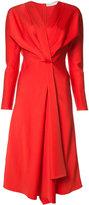 Victoria Beckham v-neck flared dress - women - Acetate/Viscose - 6