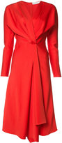 Victoria Beckham v-neck flared dress - women - Acetate/Viscose - 8