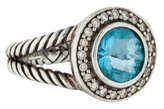 David Yurman Blue Topaz & Diamond Cerise Ring