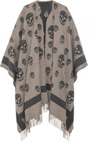 Alexander McQueen Skull-printed Cashmere And Wool-blend Cape - Gray