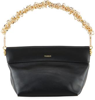 Yuzefi Giant Coin Chain Top-Handle Hobo Bag