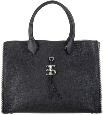 Ermanno Scervino Black Medium Tote Bag With Studs And Logo