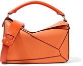 Loewe Puzzle Medium Textured-leather Shoulder Bag - Orange