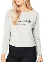 Miss Selfridge Embroidered Tres Chic Sweatshirt