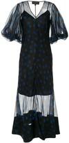 Lee Mathews polka-dot flared dress