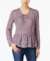 William Rast Devon Printed Peasant Top