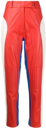 Frenken Colour Block Panelled Trousers
