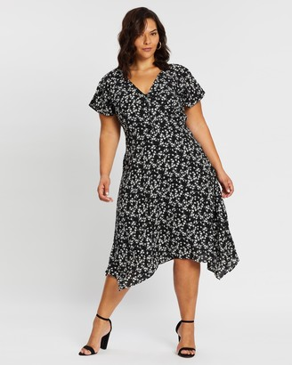 Atmos & Here Kayla Print Wrap Dress