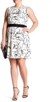 Taylor Printed Scuba Fit & Flare Dress (Plus Size)