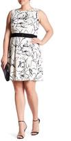Taylor Printed Scuba Fit & Flare Dress (Plus Size)