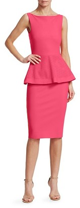 Chiara Boni Dominik Laser-Cut Peplum Dress