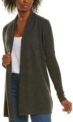 Forte Cashmere Open Front Cashmere Cardigan