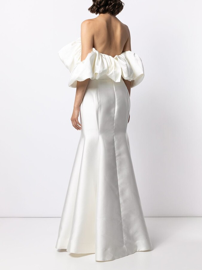 Thumbnail for your product : SOLACE London Pyper ruffle gown