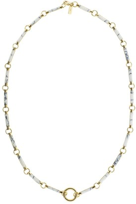 Foundrae 18kt yellow gold Howlite element link chain
