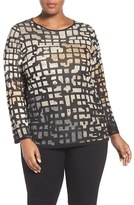 Nic+Zoe Plus Size Women's Pattern Play Knit Top