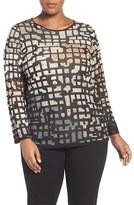 Nic+Zoe Plus Size Women's Pattern Play Knit Top