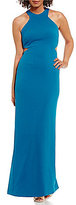 Calvin Klein Cut-Out Halter Sleeveless Gown