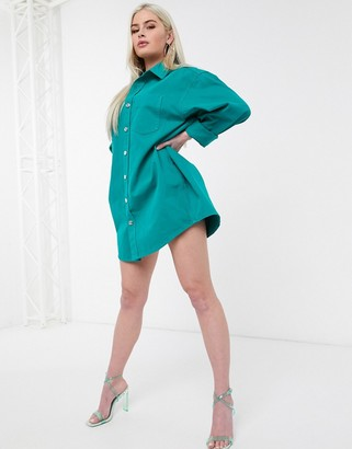 ASOS DESIGN oversized green shirt