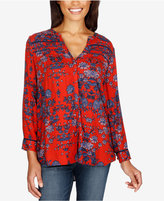 Lucky Brand Vintage Printed High-Low Shirt