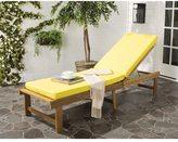 Safavieh Inglewood Outdoor Teak Brown/ Yellow Chaise Lounge Chair