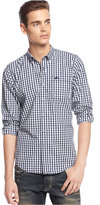 American Rag Men's Varsity Park Long-Sleeve Checked Shirt
