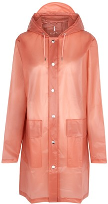Rains Coral semi-sheer rubberised raincoat
