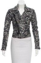 Balenciaga Abstract Print Leather Jacket