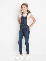 Gap High stretch denim skinny overalls