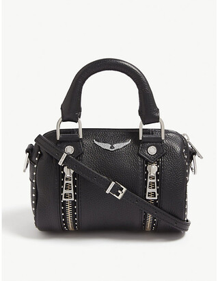 Zadig & Voltaire ZADIG&VOLTAIRE Nano Sunny studded leather bowling bag