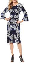 Ronni Nicole 3/4 Bell Sleeve Sheath Dress