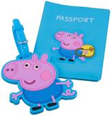 Peppa Pig George Passport Cover and Luggage Tag Set