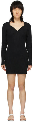 Unravel Black Cashmere V-Neck Dress