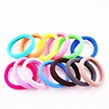 Cuhair(tm) Mix 30pcs 6cm Color Random Design for Kids Children Girl Women Hair Accessories Elastic Tie Ponytail Holders Princess Baby Hair Rope Rubber Bands Accessories