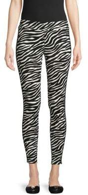 MICHAEL Michael Kors Zebra-Print Stretch Leggings