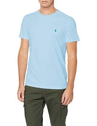 Izod Men's Chest Logo Basic Tee T-Shirt, (Blue Bell 451), Large (Size: LG)