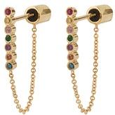 Ileana Makri Rainbow stone & yellow-gold earrings