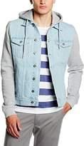 Urban Classics Men's Long Sleeve Maternity Jacket - Blue -
