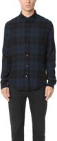 Vince Two Tone Plaid Wool Gauze Shirt