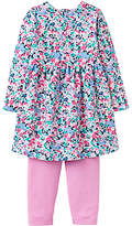 Joules Baby Joule Christina Kitty Ditsy Floral Dress and Leggings Set, Pink