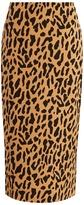 Diane von Furstenberg Leopard-print stretch-cady pencil skirt